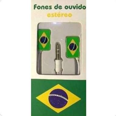 Fone De Ouvido Estéreo Brasil Com Fio