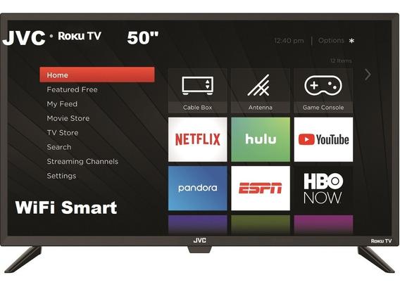 Smart Tv 50 Pulgadas, Jvc, Con Roku Incluido, Wifi