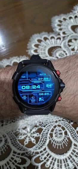 Relógio Diesel Full Guard 2.5 Black Silicone P.entrega Env