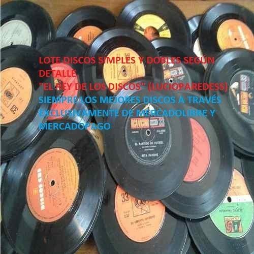 Lote N° 7 Discos Simples 33 Rpm Años 60 Y 70 Ritmos Varios