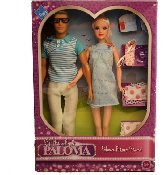 Muñeca Paloma Futura Mamá Con Tomy Y Acces Duende Azul Full