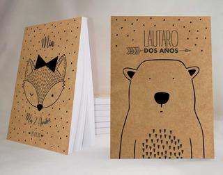Souvenir Animalitos Anotador Papel Madera X34 7x10cm