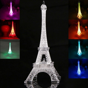 Centros De Mesa Torre Eiffel Con Luz 25cms 1 Pza