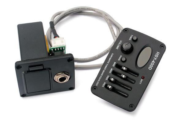 Durable 4 Bandas Eq Equalizador Preamp Com Caixa De Bateria