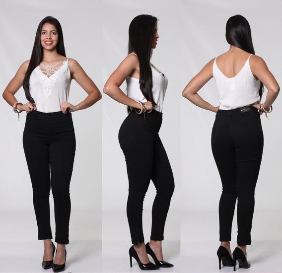 Calça Feminina Empina Bumbum Mid Bengaline Biotipo Jeans