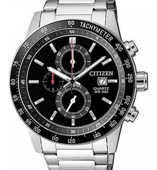 Relógio Citizen Masculino Prata Cronografo Tz31169t