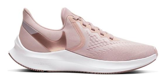 Zapatillas Nike Air Zoom Winflo 6 Mujer Running Aq8228-200