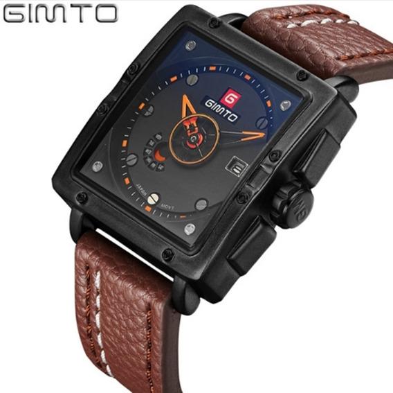 Relógio Masculino Gimto Gm223 De Pulso Quartzo Frete Grátis