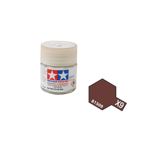 Tinta Acrílica Tamiya Brown X9 81509 10ml X-9