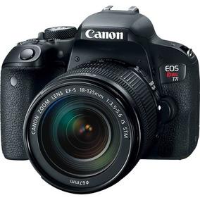 Câmera Canon Eos Rebel T7i Dslr Com 18-135mm Stm 12x S/juros