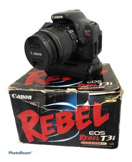 Câmera Cânon T3i + Grip+ Lente 1855 Seminova C 52.250 Clique