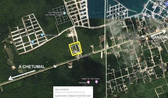 Terreno En Venta En Tulum Habitacional Para Desarrollador
