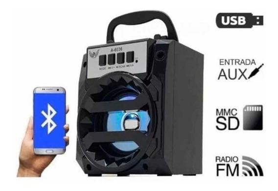 Caixa De Som Bluetooth Usb Sd Aux Fm A-706