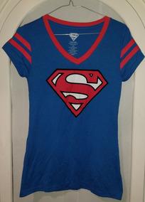 Playera Superman Super Chica De Dama Talla Mediana Marvel Dc