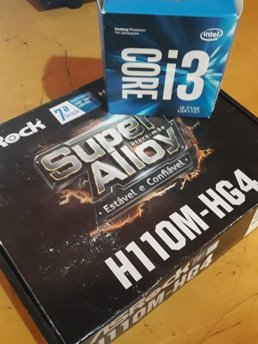 Kit Intel Core I3 7100 3.9ghz + Asrock H110m-hg4