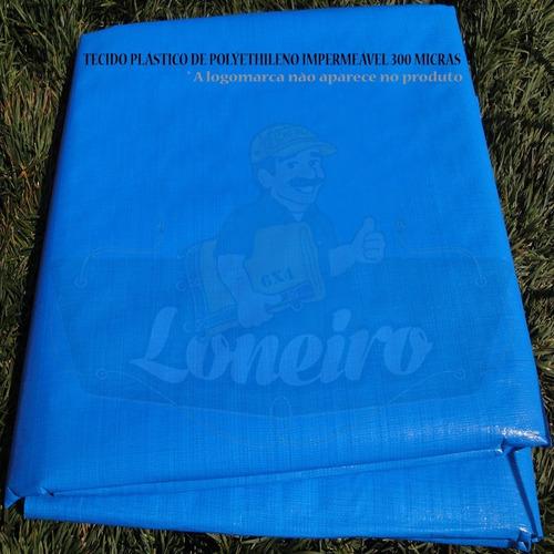 Lona Plástica Azul Claro Tecido Leve 20 X 2,20 Mts Sem Ilhos