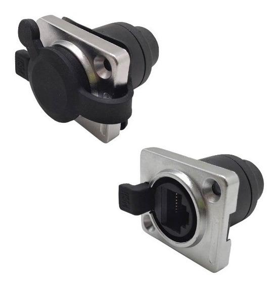 Plug Conector Femea Ethercon Xlrnet Painel Rj45 Tipo Neutrik