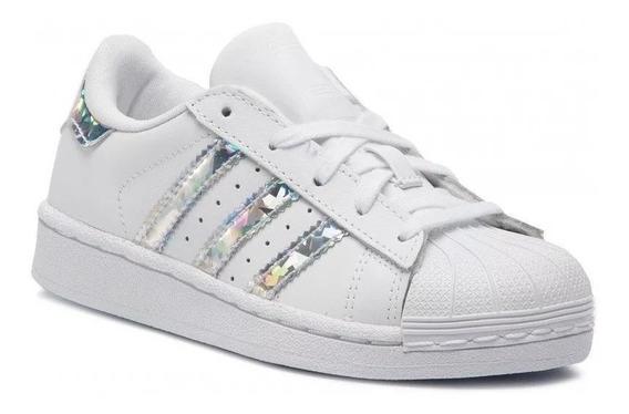 Tenis adidas Supertar Concha Blanco Plata Ad1279
