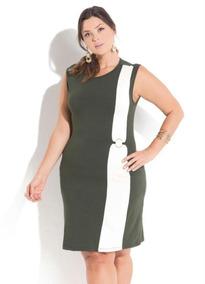 Vestido Feminino Plus Size Detalhe Argola Roupas Femininas