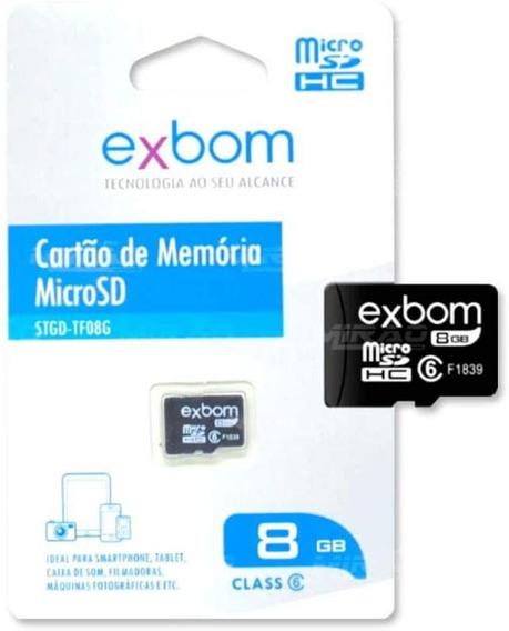 Cartão De Memória 8gb Exbom