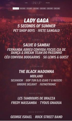 Ingresso Rock In Rio 2017 15/09 - Lady Gaga