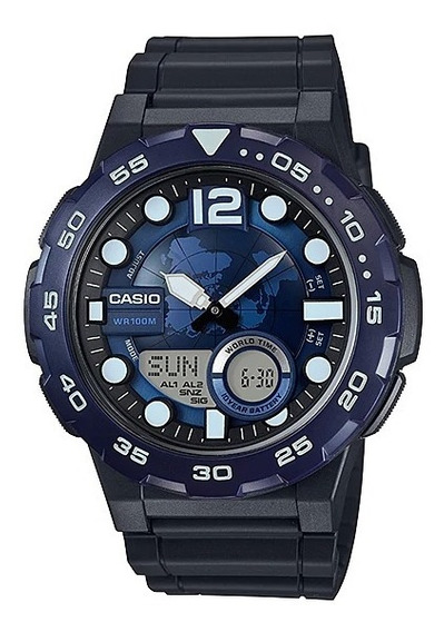 Relógio Casio Digital Aeq-100w-2avdf - Original