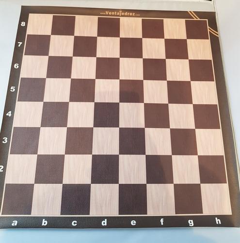 Tablero De Ajedrez De Cuerina Vip - Full 6 X 6 Cm Escaque