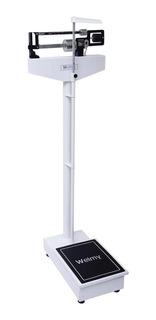 Balança Mecânica Antropométrica 2m Welmy 150kg Branca/preta