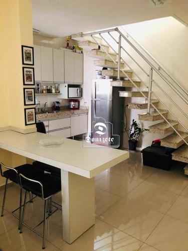 Cobertura Com 2 Dormitórios À Venda, 130 M² Por R$ 460.000,00 - Jardim Bela Vista - Santo André/sp - Co11606