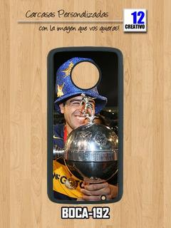 Funda Boca Juniors Moto C Plus - E4 E5 Plus - G4 Plus Play G5 G5s G6 Play Plus Carcasa Xeneize Cabj Case