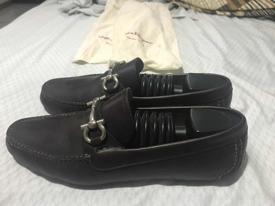 Zapatos Salvatore Ferragamo Hombre Café Obscuro A Negociar