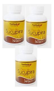 Óleo De Sucupira Extra Virgem Kit 3 120 Total 360caps Nathus