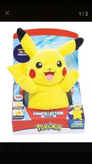 Pikachu Pelúcia Som E Luz
