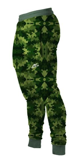 Jogger Neron: Pantalón Camuflado Militar Algodón Deportivo
