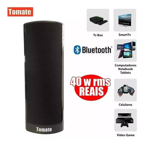 Caixa Som Super Bass Bluetooth Tomate 40w Tv Pc Ios Android