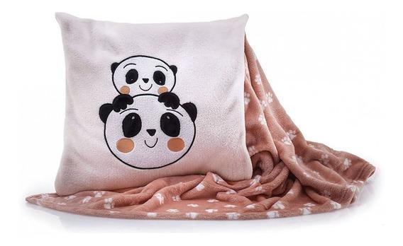 Manta Almofada Flannel Panda