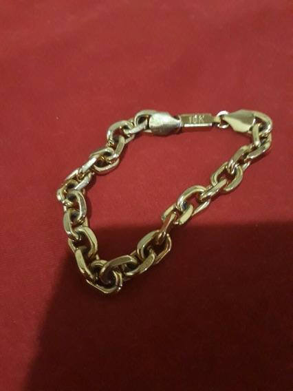 Cordão E Pulseira 12mm Cadeado Ouro 18k