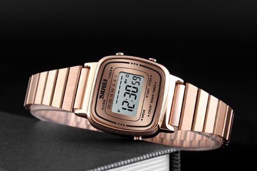 Relógio Feminino Skmei Digital 1252 Rosé Retro Vintage