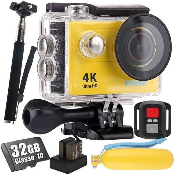 Câmera Eken H9r 4k + 32gb + Flutuante + Carregador + Brindes