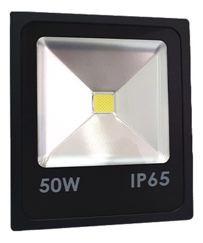 Reflector Led 50w Slim Delgado Ip65 Exterior Luz Blanca Fria