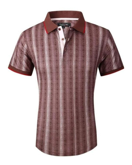 Playera Hombre Polo Marca Pavini Original P3018 Cafe ( 1 )