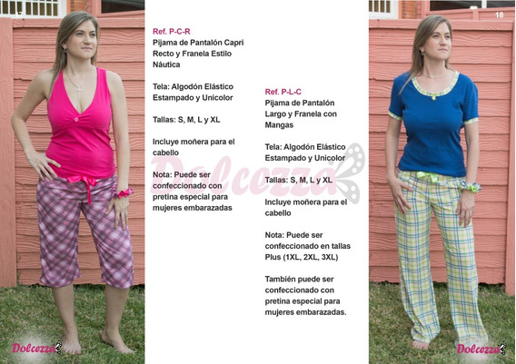 Pijama Dama Pantalon Largo Normal Y Plus