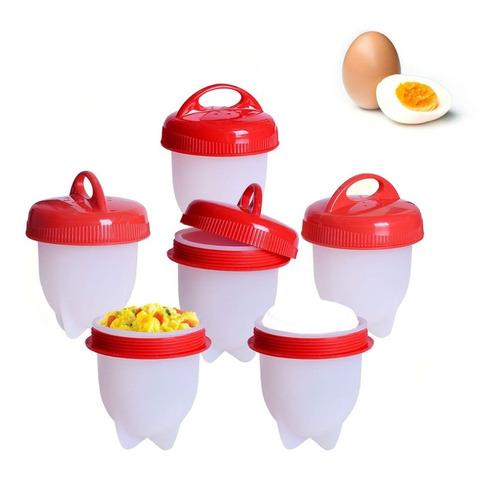 Hervidor Silicona Huevos Perfectos Duro Ponche Egg Boil X6