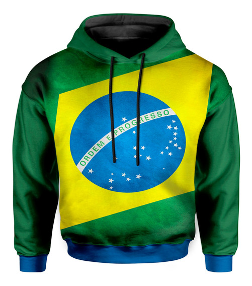 Moletom Infantil Com Capuz Unissex Brasil Md03