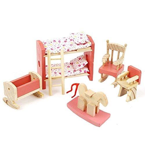 Anone Kids Bedroom - Muebles De Madera Maciza Dollhouses Fur