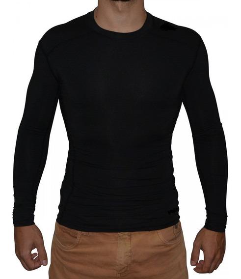 Camisa Térmica Longa Segunda Pele Proteção Uv Compressão