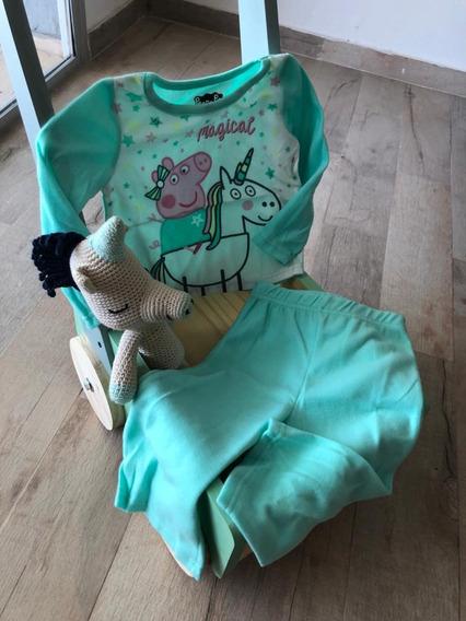 Pijama Nena Peppa Pig Talle 2t Polar