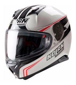 Casco Nolan Integral N87 Rapid 17 Metal White - Sti Motos
