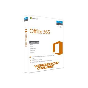 Office 365 + Onedrive 1tb Skype 60m Pc Ou Mac 1 Ano