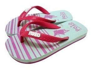 Polo Shoes Chinelo Pink & Rosa Claro 31-32 Feminino Infantil